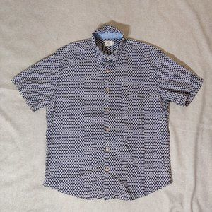 Faherty Scallop Pattern Button Down Shirt Size XL